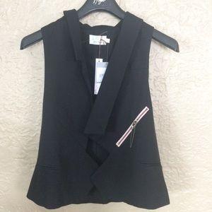 NEW Julie Haus Cage Vest w/ Asymmetrical Lapel